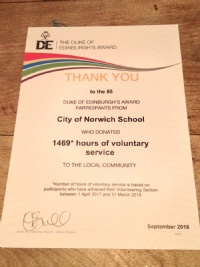 DofE recognise students' voluntary service