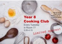 New Year 8 Cooking Club